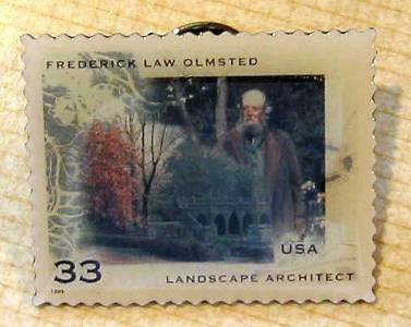 Frederick Law Olmstead stamp pin lapel pins hat 3338 s