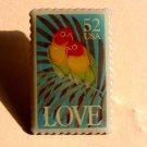 Love Birds1991 Stamp pin lapel pins tie tac hat 2537 S