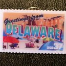 Delaware DE Greetings Stamp Pin lapel pins tie tac 3703 S