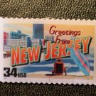 New Jersey Greetings Stamp Pin lapel pins tie tac 3725 S