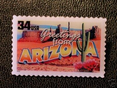 Arizona Greetings Stamp Pin lapel pins tie tac hat 3698 S