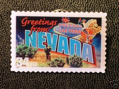 Nevada Greetings Stamp Pin lapel pins tie tac hat 3723 S