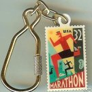Marathon Stamp Keychain Runner new 3067kc S