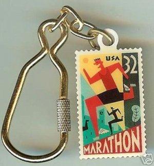 Marathon Stamp Keychain Runner new 3067kc S