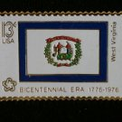 West Virginia State Flag stamp pin lapel tie tac 1667 S