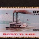 Robert E. Lee Steamboat Stamp Pin lapel pins hat 3091 S
