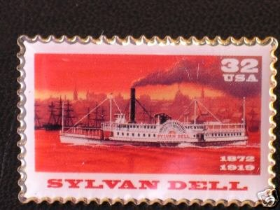 Sylvan Dell Steamboat Stamp Pin lapel pins hat new 3092 S