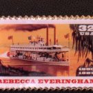 Rebecca Everingham Riverboat Stamp Pin lapel hat 3094 S