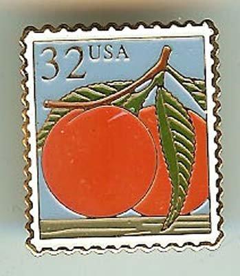 Peach Stamp Pin cloisonne tie tac lapel pins 2487 S
