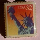 Statue of Liberty stamp pin lapel pins hat 3122  S