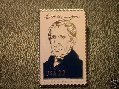 Wiliam H. Harrison lapel pins stamp pin tie tac 2216i S