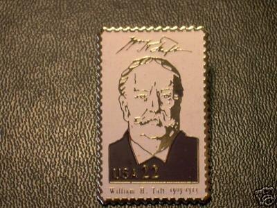 William H. Taft lapel pins stamp pin tie tac hat 2218h S