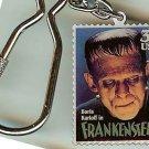 Boris Karloff Frankenstein stamp keychain 3170kc S