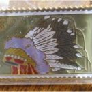 Cheyenne Indian Headdress stamp pin lapel pins 2502 S