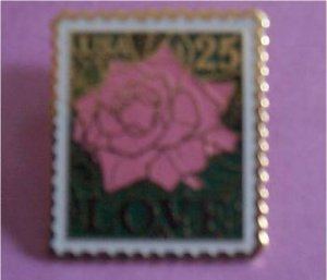 Love 1988 Stamp pin Rose lapel pins cloisonne 2378 S