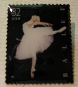 Ballet Dance stamp refrigerator magnet 3237mg new S