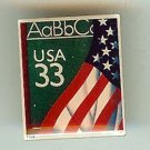U.S. Flag Chalkboard ABC stamp pin hat lapel pins 3283 S