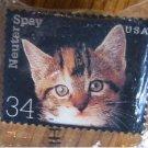 Cat Kitten Neuter Spay Stamp pin lapel hat Error 3670 S