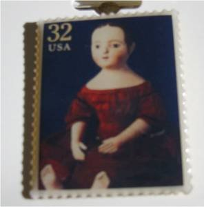 Doll Izannah Walker metal Stamp pin lapel pins hat 3151h S