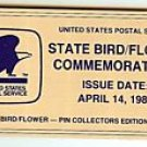 Name Plate State Bird Flower stamp pins set 1953-2002