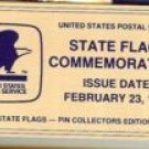 Name Plate State Flag stamp pin set 1654-1676