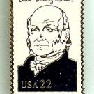 John Quincy Adams President lapel stamp pin lapel 2216f S