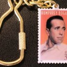Actor Humphrey Bogart postage stamp keychain 3152kc S
