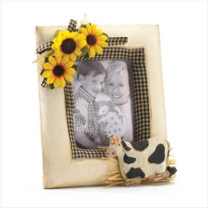 Fabric Cow Photo Frame