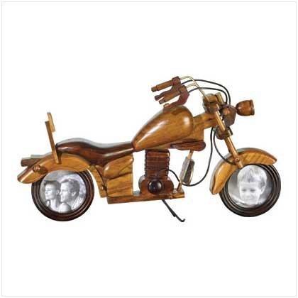 Wood Motorcycle Photo Frame