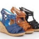 women's succinct wedge heels sandal/shoes