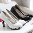 Women's zebra-stripe high heels dress shoes/wedding shoes