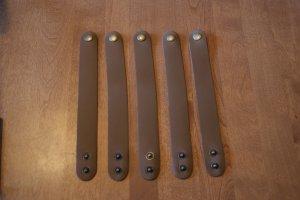 5 Tan Leather Cuff Bracelets Men Women Blank Custom