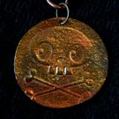 Skeleton Copper Pendant Neckalce Handcrafted One of a Kind Handmade