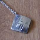 Runic Symbol Sowulu Fine Silver Pendant Necklace Handcrafted One of a Kind Handmade