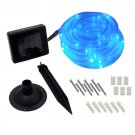 50 LED Solar Rope Light-Blue