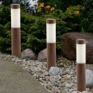 Solar  Light with Wood Grained Finish