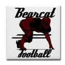 BEARCAT FOOTBALL {5}  tile coasters