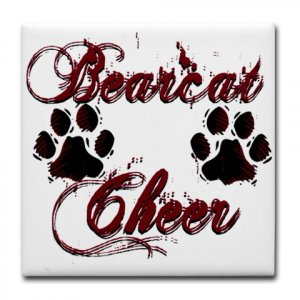 BEARCAT CHEER {3}  tile coasters