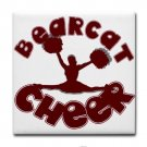 BEARCAT CHEER {10}  tile coasters
