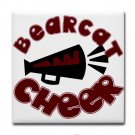 BEARCAT CHEER {9}  tile coasters