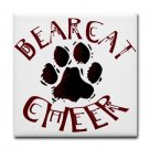 BEARCAT CHEER {5}  tile coasters