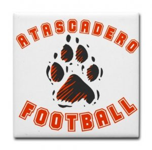 ATASCADERO FOOTBALL {9}  tile coasters