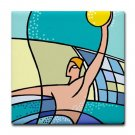 WATER POLO {3}  tile coasters