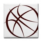 BASKETBALL {6}  tile coasters