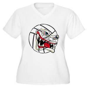 VICIOUS VOLLEYBALL | women's plus size v-neck tee