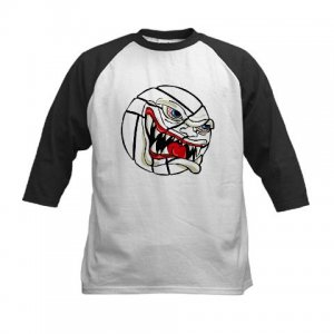 VICIOUS VOLLEYBALL | kid's baseball jersey tee