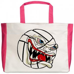 VICIOUS VOLLEYBALL | beach tote bag