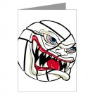 VICIOUS VOLLEYBALL | greeting card -single card-