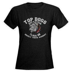 TOP DOGS [4] | women's dark tee