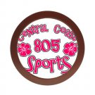 805 SPORTS LOGO [hibiscus 1] | round jewelry case